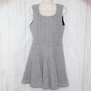 Thakoon Size 10 Gray Cable Knit Sleeveless Dress